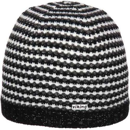 Viking Czapka damska czarno-biała (210/12/4016)