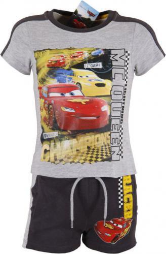 CARS Letni komplet dla chłopca Auta, Szary r. 94 cm