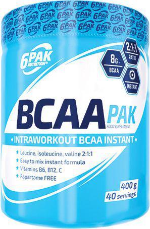 6PAK Nutrition BCAA PAK Pomarańcza-kiwi 400g