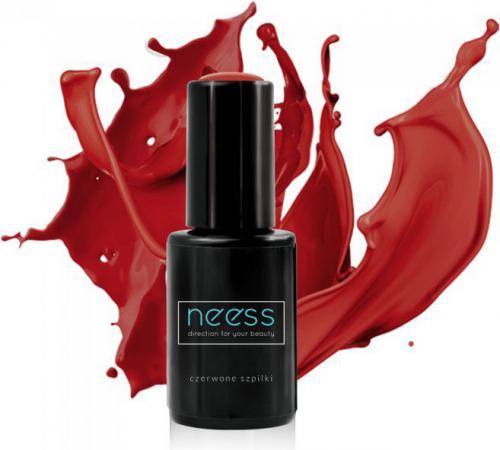 NEESS Lakier hybrydowy 4ml  7566 Czerwone szpilki