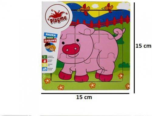 Brimarex Układanka drewniana - Świnka