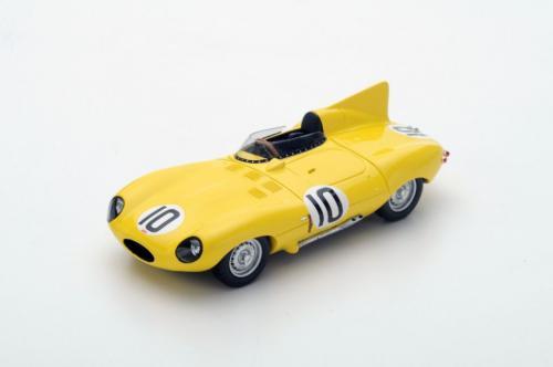 Spark Model Jaguar D Type #10 J. Claes/J. Swaters 3rd Le Mans 1955 (GXP-604166)