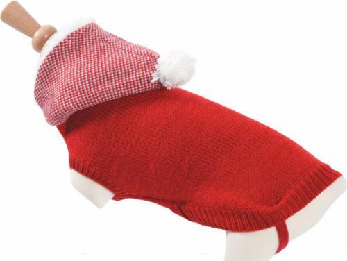 Zolux Sweterek z kapturem T30 kol. czerwony