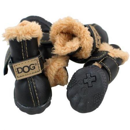 Zolux Buty dla psa T2 (4.5 x 3.5 cm, wysokość cholewki 7 cm) kol. czarny - 4 szt.
