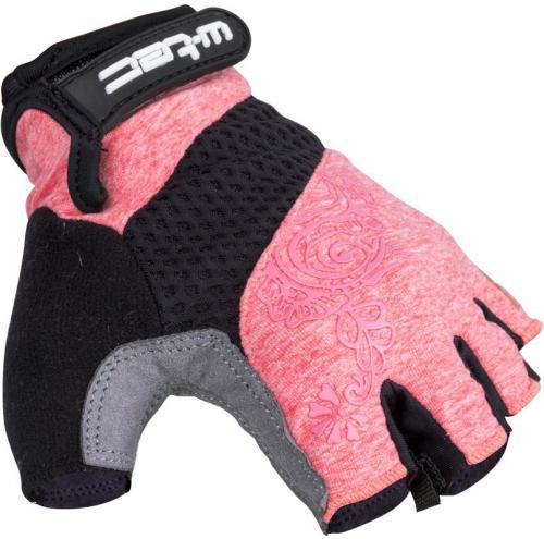 W-TEC Damskie rękawice rowerowe Atamac AMC-1038-17 szaro-różowe r. L (16363)