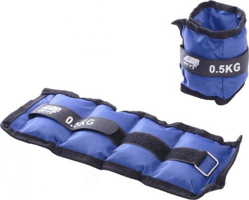 Victoria Sport Obciążniki na rzepy 2x0.5kg niebieskie