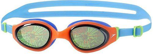 Speedo Okularki pływackie HOLOWONDER Junior niebiesko-pomarańczowo-czarne (810488A874*ONESZ)