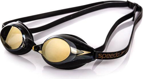 Speedo Okulary pływackie Speedsocket Mirror Speedo czarno-żółty roz. uniw (8-104417054)