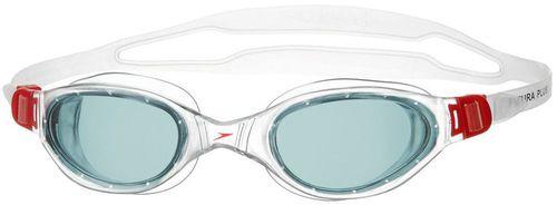 Speedo Okulary pływackie Futura Plus transparentno-czerwone (8090093557)