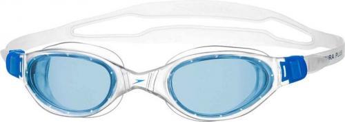 Speedo Okulary pływackie Futura Plus biało-niebieskie