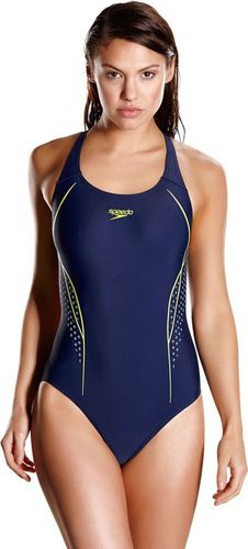 Speedo Strój kąpielowy Start Shift Placement Powerback Speedo Navy/Lime Punch/Spearmint roz. 36 (806187B847)