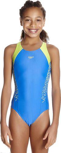 Speedo Strój kąpielowy Boom Splice Muscleback niebiesko-żółty r. 176 (810844B746)