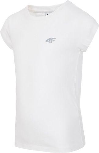 4f Koszulka Junior biała r. 140 (J4Z17-JTSD200)