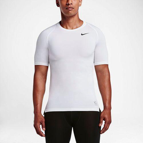Nike Koszulka męska NP Top Compression SS biała  r. XXL (703094 100)