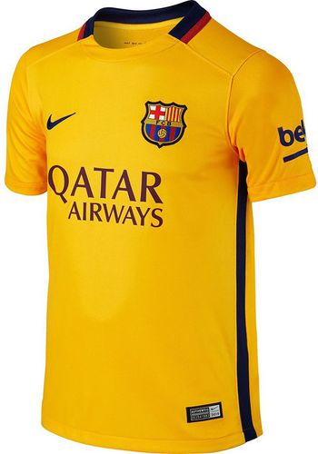 Nike Koszulka juniorska FC Barcelona Away Stadium Junior 13-15Yrs  żółta r. XL (659028 740)