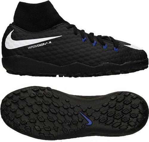 Nike Buty piłkarskie Jr HypervenomX Phelon 3 DF TF czarny r. 32 (917775 002)