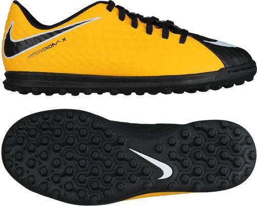 Nike Buty piłkarskie JR Hypervenom Phade III  TF czarno-żółte r. 38.5 (852585 801)