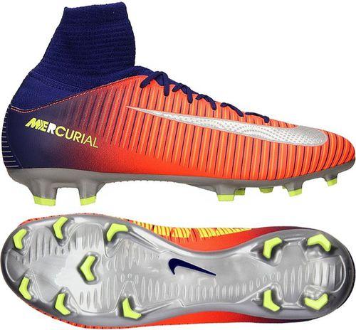 Nike Buty piłkarskie Jr Mercurial Superfly V FG pomarańczowo-granatowe r. 36.5 (831943 409)