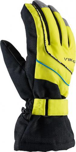 Viking Rękawice Juniorskie Mate Czarno-żółte r. 4 (120/19/3322)