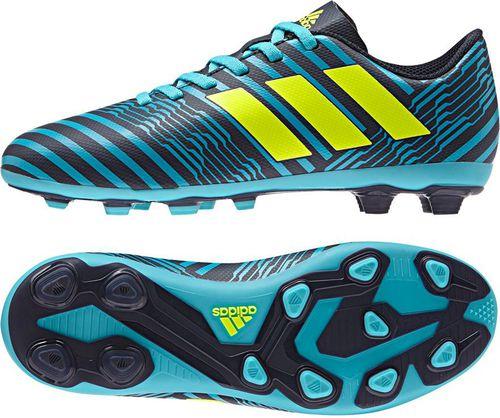 Adidas Buty piłkarskie Nemeziz 17.4 FxG Junior niebiesko-czarne r. 30 (S82458)