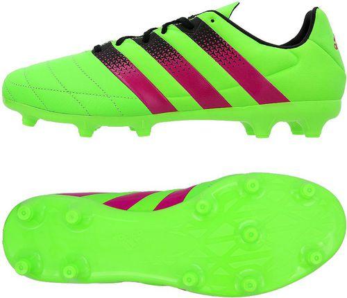 Adidas Buty piłkarskie ACE 16.3 FG/AG Leather zielone r. 41 1/3 (AF5162)