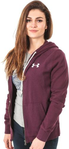 Under Armour Bluza damska Favorite Fleece Full Zip Hoodie bordowa r. S (1302361-916)