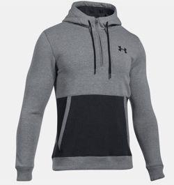 Under Armour Bluza męska Threadborne 1/2 Zip Hoodie szaro-czarna r. XL (1299135-025)