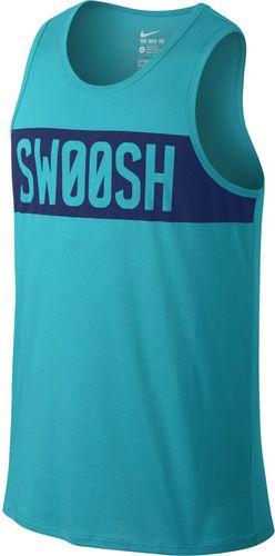Nike Koszulka męska Dri-Fit Cotton Swoosh Block niebieska r. S (779185 418)