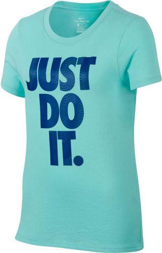 Nike Koszulka dziecięca G NK Dry Tee DF Tempest JDI niebieska r. M (862595 446)
