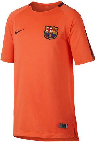 Nike Koszulka FC Barcelona Squad Top SS pomarańczowa r. M (854411 813)