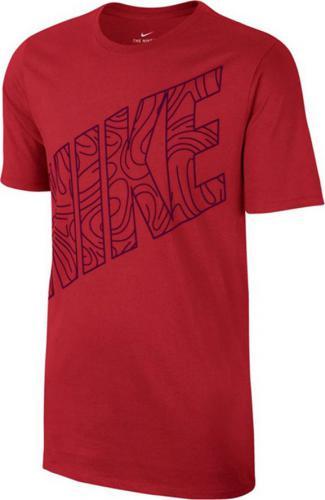 Nike Koszulka NSW Tee Kaishi Block czerwony r. L (834725 602)