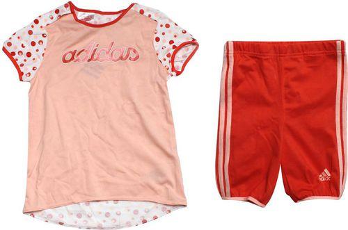 Adidas Komplet Adidas dziecięcy D87923 D87923 pomarańczowy 98 cm - D87923