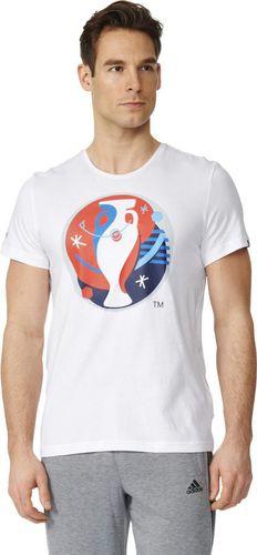 Adidas Koszulka męska Euro Logo biały r. S (AI5606)