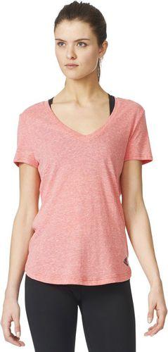 Adidas Koszulka damska Logo V-Tee różowa r. S (AZ3062)