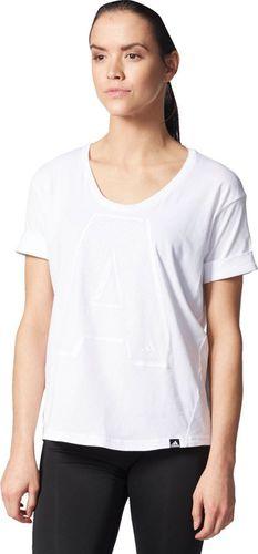 Adidas Koszulka damska A Letter biała r. S (AY4977)