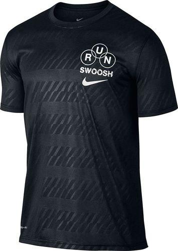 Nike Koszulka męska DRY TEE LGD RUN SWOOSH czarna r. M (839228 010)