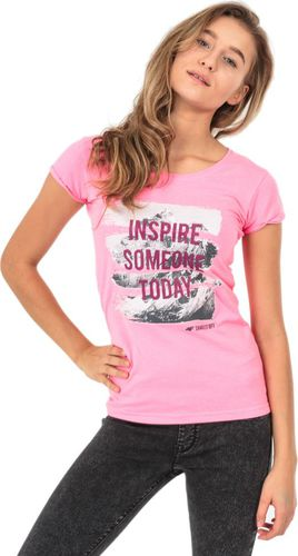 4f Koszulka damska różowa r. S (H4Z17-TSD002)