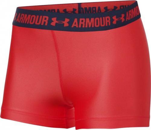 Under Armour Spodenki damskie HeatGear Armour Shorty czerwono-czarne r. M (1297899-693)