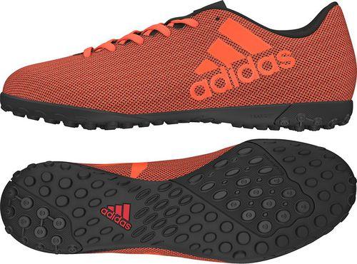 Adidas Buty piłkarskie X 17.4 TF czarno-pomarańczowe r. 42 (S82416)