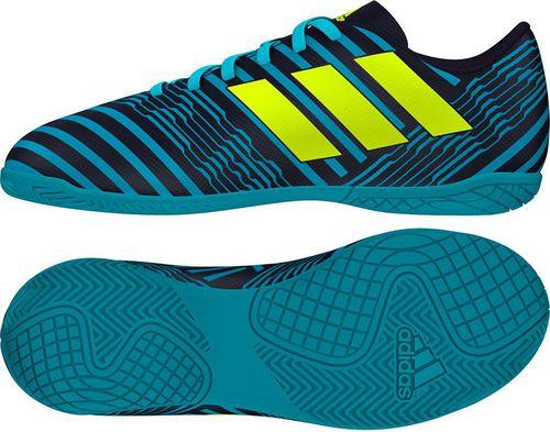 Adidas Buty piłkarskie Nemeziz 17.4 IN Jr niebiesko-czarne r. 28 (S82465)