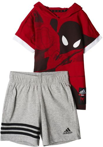 Adidas Komplet Boys Spiderman Summer Set kolor czerwony rozmiar 116 cm (BP9464)