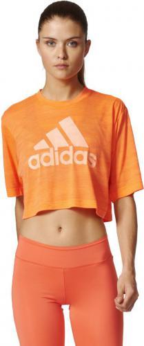 Adidas Koszulka Boxy Crop Tee Aeroknit pomarańczowy r. S (BP8188)
