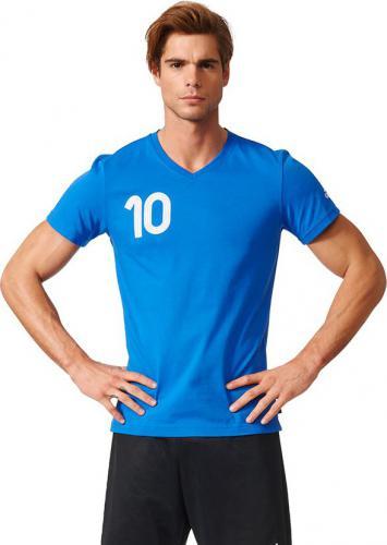 Adidas Koszulka męska Tango niebieska r. M (AZ9718)