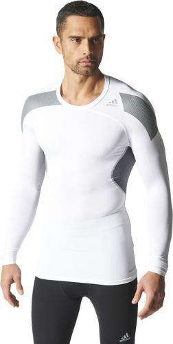 Adidas Koszulka męska Techfit Cool Long Sleeve Tee biała r. L (S19451)