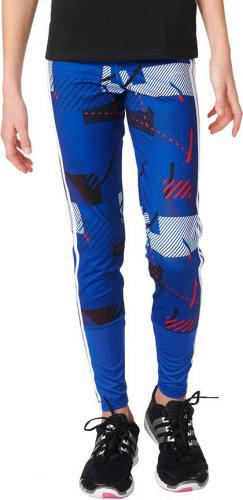 Adidas Legginsy  juniorskie Training All Over Printed niebieskie r. 152 (AY5640)