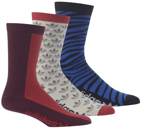 Adidas Skarpety crew sock 3-Pak multikolor r. 31-34  (m30639)