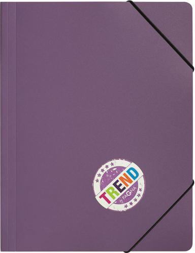 Pagna Teczka z gumką A4, fioletowa PP (P2161312)