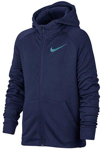 Nike Bluza juniorska B NK Dry Hoodie FZ FLC niebieska r.152 (856135 429)