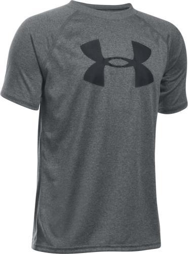 Under Armour Koszulka dziecięca Tech Big Logo SS szaro-czarna r. S (1228803-090)