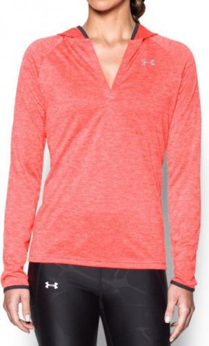 Under Armour Bluza damska Tech LS Hood Twist czerwona r. S (1269181-963)